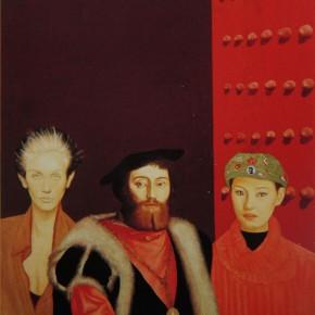 """061 Wang Huaxiang """"Red Gate"""" oil on canvas 100 x 80 cm 1997 290x290 - Wang Huaxiang"""
