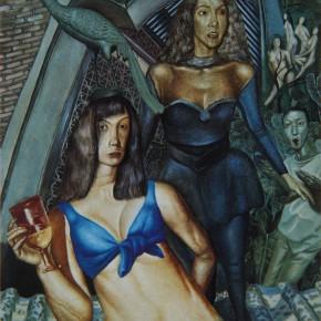 """069 Wang Huaxiang """"Phoenix"""" oil on canvas 54 x 45.5 cm 1994  290x290 - Wang Huaxiang"""