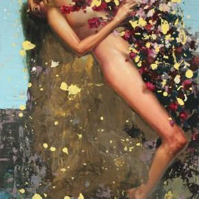 """071 Wang Huaxiang, """"The Wind Blowing Back No.30"""", 200 x 300 cm, 2011"""