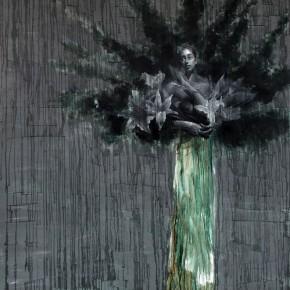 """073 Wang Huaxiang, """"The Wind Blowing Back No.28"""", 200 x 300 cm, 2011"""