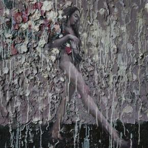 """075 Wang Huaxiang, """"The Wind Blowing Back No.21"""", 90 x 110 cm, 2011"""