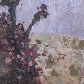 """077 Wang Huaxiang, """"The Wind Blowing Back No.19"""", 110 x 90 cm, 2010"""