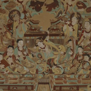 "08 Playing Lute and Dancing Figure of the Cave 112 290x290 - Zhejiang Art Museum Launches ""Bright World – Dunhuang Art Exhibition"""
