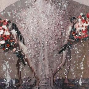 """080 Wang Huaxiang, """"The Wind Blowing Back No.15"""", 100 x 80 cm, 2010"""