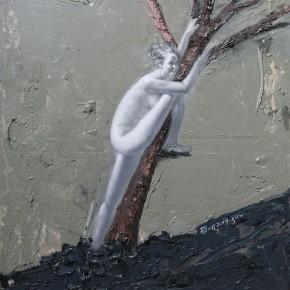"""088 Wang Huaxiang, """"The Wind Blowing Back No.07"""", 100 x 80 cm, 2009"""