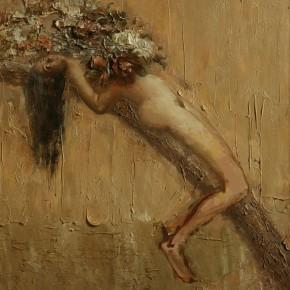 """092 Wang Huaxiang, """"The Wind Blowing Back No.03"""", 100 x 80 cm, 2009"""