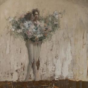 """094 Wang Huaxiang, """"The Wind Blowing Back No.01"""", 200 x 300 cm, 2008"""