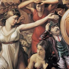 """098 Wang Huaxiang """"The War after Duchamp detail No.1"""" oil on canvas 2006 290x290 - Wang Huaxiang"""