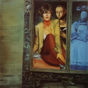 "100 Wang Huaxiang ""Carved Window"" oil on canvas 100 x 80 cm 1994 290x290 - Wang Huaxiang"