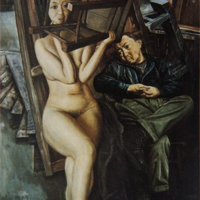 """101 Wang Huaxiang, """"Low-Key Life"""", oil on canvas, 73 x 61 cm, 1993"""