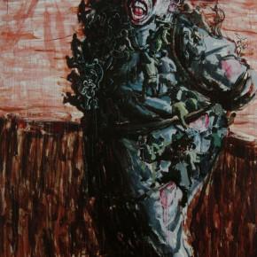 "110 Wang Huaxiang ""The Tied Slave"" oil on canvas 200 x 300 cm 2008 290x290 - Wang Huaxiang"