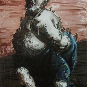 "111 Wang Huaxiang ""The Tied Slave"" oil on canvas 200 x 300 cm 2008 290x290 - Wang Huaxiang"