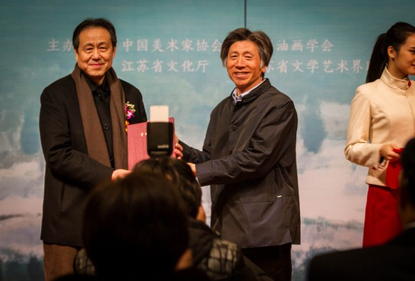 33 Shen Xinggong donated his work to the National Art Museum of China