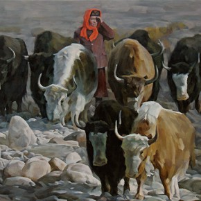 "Bai Gang ""Looking For"" 120 x 100 cm oil painting 290x290 - On the Plateau – Art Works Exhibition of Xinjiang Fine Art Academy Held in Guangzhou"