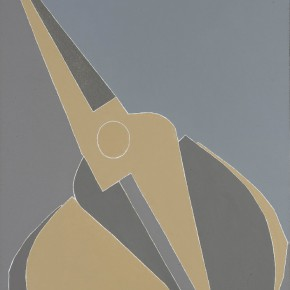 "Mao Xvhui ""Tilted Yellow Grey Scissors"" oil on canvas 290x290 - Group Exhibition ""The Traces of Time"" Showcasing Collection of Amy Li Gallery"