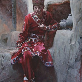 "Sun Liming ""A Tajik Girl"" 100 x 80 cm oil painting 290x290 - On the Plateau – Art Works Exhibition of Xinjiang Fine Art Academy Held in Guangzhou"