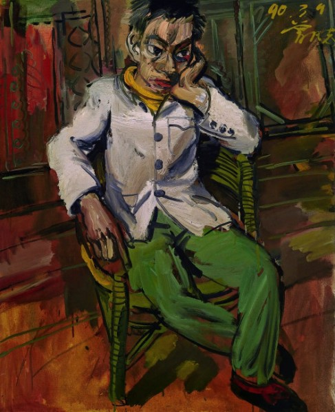 Zeng Fanzhi, A Man in Melancholy, 1990; Collection de l'artiste © Zeng Fanzhi studio