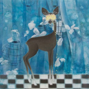 """Zhao Shuyi The Blue ink painting 60 x 73 cm 2010 290x290 - """"Sweet and Elegant - 2014 Young Female Artists Exhibition"""" Opening in Yan Huang Art Museum"""