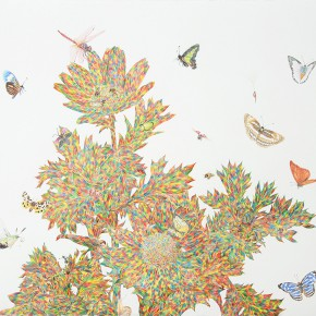 """01 Lai Jinna """"I Started From Here"""" color pencil on paper 58 x 77 cm 2012 290x290 - Solo Show by Lai Jinna """"A Full Void"""" Opening in Beijing"""