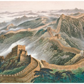 """01 Xu Renlong """"The Great Wall"""" of the Reception Hall of Great Hall of the People Chinese painting 438 x 835 cm 2002 290x290 - """"Teaching and Learning Improving Each Other: Exhibition for Xu Renlong's Teaching and Creation"""" Opened in CAFA"""