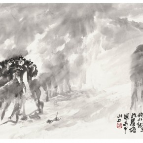 """02 Xu Renlong """"Beauty in the Mist and Rain"""" 35 x 46 cm 2012 290x290 - """"Teaching and Learning Improving Each Other: Exhibition for Xu Renlong's Teaching and Creation"""" Opened in CAFA"""