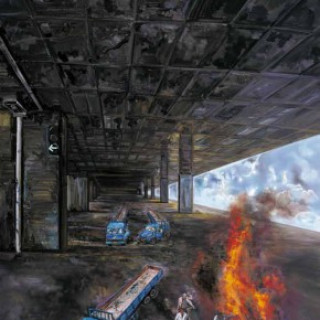 """02 Zhang Xiaotao """"Untitled"""" oil on linen 300 x 200 cm 2009 290x290 - Empty Shadow – Zhang Xiaotao's Works 2009-2014 about to be Presented in Suzhou"""