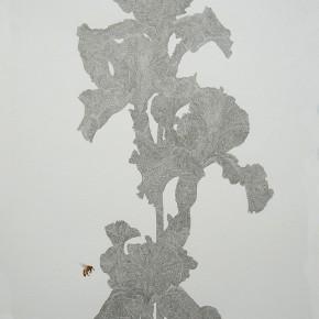 """05 Lai Jinna, """"Iris"""", color pencil on paper, 77 x 58 cm, 2012"""