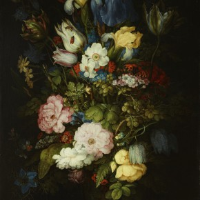 "05 Roland Savery 1576 Kortrijk 1639 Utrecht ""Bouquet of Flowers Bouquets Liechtenstein"" oil on board 49.4 x 34.5 cm painting 66.2 x 51.2 x 7.1 cm frame 290x290 - Rubens, Van Dyck and the Flemish School of Painting: Masterpieces from the Collections of the Prince of Liechtenstein Debuts in China"