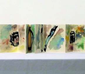 06 Etel Adnan INKPOTS and... 2013 ink and watercolor on paper 17x312cm 290x253 - Etel Adnan's First Solo Show in China Opening March 15 at Galleria Continua Beijing