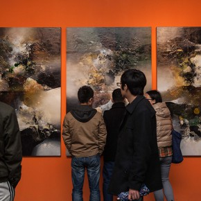 "06 Installation view of Contemporary Abstract Art Exhibition by Us Based Painter Pan Qiqun 290x290 - ""Contemporary Abstract Art Exhibition by US Based Painter Pan Qiqun"" Presented in Nanjing"