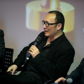 "06 LaoZhu answered the questions put forward by media  290x290 - Press Conference of ""The 8th Award of Art China • Selections of the Annual Influential Artists 2013"" Held at the Place Museum"