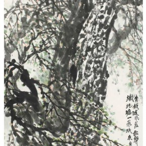 """07 Xu Renlong """"Old Elm Tree"""" 139 x 70 cm 2010 290x290 - """"Teaching and Learning Improving Each Other: Exhibition for Xu Renlong's Teaching and Creation"""" Opened in CAFA"""