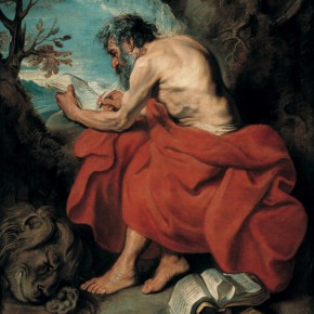 "09 Anthony van Dyck 1599 Antwerp – 1641 London ""Saint Jerome"" oil on canvas 157.5 x 131 cm painting 182.5 x 150.5 x 10.3 cm frame 1615–1616  290x290 - Rubens, Van Dyck and the Flemish School of Painting: Masterpieces from the Collections of the Prince of Liechtenstein Debuts in China"