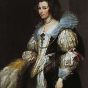 "14 Anthony van Dyck 1599 Antwerp – 1641 London ""Portrait of Maria Lugia de Tassis 1611 1638"" oil on canvas 129 x 92.8 cm painting 151.5 x 116 x 9 cm frame 290x290 - Rubens, Van Dyck and the Flemish School of Painting: Masterpieces from the Collections of the Prince of Liechtenstein Debuts in China"