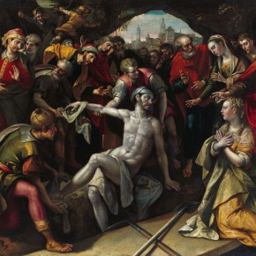 "15 Maarten de Vos 1532 Antwerp – 1603 Antwerp ""Resurrection of Lazarus"" oil on canvas 150.7 x 224.7 cm painting 181 x 255.5 x 15.5 cm frame 1593 290x290 - Rubens, Van Dyck and the Flemish School of Painting: Masterpieces from the Collections of the Prince of Liechtenstein Debuts in China"