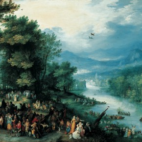 "18 The Elder Jan Brueghel 1568 Antwerp – 1625 Antwerp ""Landscape Painting with the Young Tobias"" oil on copperplate 36.3 x 55.1 cm painting 53 x 72 x 6.5 cm 290x290 - Rubens, Van Dyck and the Flemish School of Painting: Masterpieces from the Collections of the Prince of Liechtenstein Debuts in China"