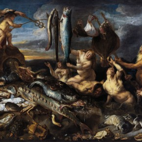 "19 Jacob Jordaens 1593 Antwerp – 1678 Antwerp Frans Snyders 1579 Antwerp – 1657 Antwerp ""Gifts from Sea"" oil on canvas 269 x 377 cm 313 x 424 x 22 cm 290x290 - Rubens, Van Dyck and the Flemish School of Painting: Masterpieces from the Collections of the Prince of Liechtenstein Debuts in China"