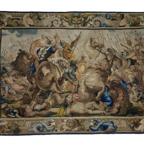 "20 Jan Gonzalez I's Studio woven ""The Death of Decius Mus"" according to the painting by Peter Paul Rubens 1577 Siegen – 1640 Antwerp wool and silk 390 x 564 cm 290x290 - Rubens, Van Dyck and the Flemish School of Painting: Masterpieces from the Collections of the Prince of Liechtenstein Debuts in China"