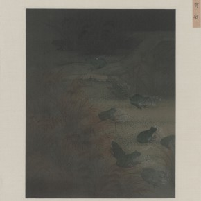 Hao Liang, Records of Searching Anecdotes 02, 2013; Re-color on silk, 27.5×22.5cm