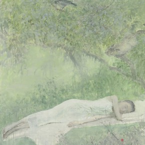 He Duoling Dream of Summer Oil on canvas 200 x 150 cm 2013 290x290 - Skin's Literary Form: Dual Exhibition by He Duoling and Mao Yan Opening at the Art Museum of Nanjing University of the Arts