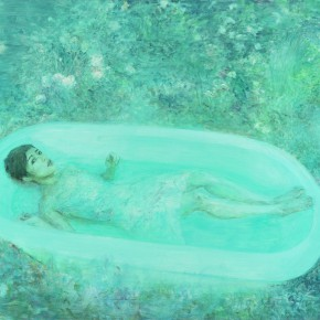 He Duoling Ophelia Oil on canvas 150×200cm 2009 290x290 - Skin's Literary Form: Dual Exhibition by He Duoling and Mao Yan Opening at the Art Museum of Nanjing University of the Arts