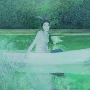 He Duoling Rabbit Charlotte Oil on canvas 150×200cm 2010 290x290 - Skin's Literary Form: Dual Exhibition by He Duoling and Mao Yan Opening at the Art Museum of Nanjing University of the Arts
