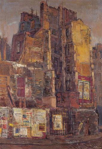 Liao Shiou-Ping, Old Wall, Paris; Oil on canvas, 1965