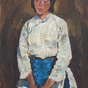 """Shen Xinggong """"A peasant Woman No.3"""" oil on paper 53 x 38 cm 1983 290x290 - Emotion and Personality: Shen Xinggong Talked About the Creation and Teaching of Oil Painting"""