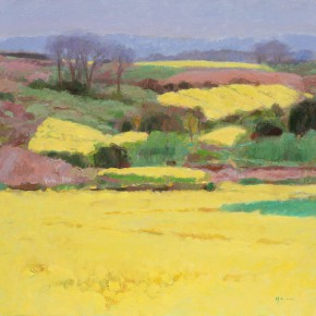 """Shen Xinggong """"Blooming Rapeseed Flowers in the Sun"""" oil on canvas 152cm×168cm 2013 290x290 - Emotion and Personality: Shen Xinggong Talked About the Creation and Teaching of Oil Painting"""