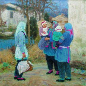 """Shen Xinggong """"Fellow Villagers"""" oil on canvas 152 x 168 cm 1999 290x290 - Emotion and Personality: Shen Xinggong Talked About the Creation and Teaching of Oil Painting"""