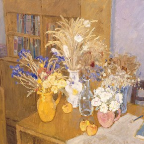 """Shen Xinggong """"Still Life on the Desk"""" oil on canvas 97 x 130 cm 2003 290x290 - Emotion and Personality: Shen Xinggong Talked About the Creation and Teaching of Oil Painting"""