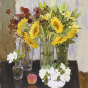 """Shen Xinggong """"Still Life with Sunflowers"""" oil on canvas 72.5 x 60.5 cm 2012 290x290 - Emotion and Personality: Shen Xinggong Talked About the Creation and Teaching of Oil Painting"""