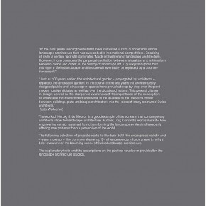 "The Swiss Touch in Landscape Architecture exhibition content Page 13 290x290 - ""The Swiss Touch in Landscape Architecture"" Curated by Michael Jakob to be Presented at Yuan Space"