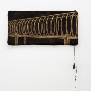 """Zang Kunkun """"Brown VIII"""" electric heater blanket acrylic mixed media 80 x 160 x 1 cm 2011 290x290 - The Being of Non-Being: A Kind of Personal Expression on """"Meta-Painting"""" Presented at Linda Gallery"""